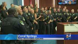 Coral Springs Officers & First Responders Honored For Response To Marjory Stoneman Douglas Mass Shooting [Video]