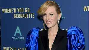 Cate Blanchett Wears 1980's Styled Pants Suit To Premiere [Video]