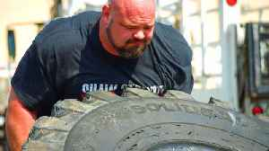 The Strongest Man in History: Tire Flip Challenge [Video]