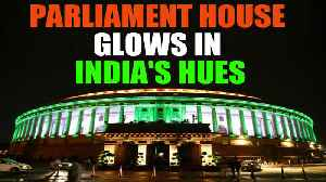Parliament House glitters as 800 LED bulbs light up its facade [Video]