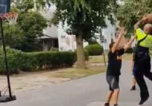 Buffalo Police Officer Shoots Hoops With Kids While on Patrol [Video]