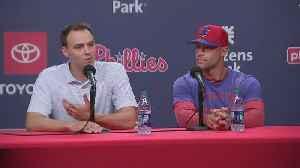 Matt Klentak, Gabe Kapler Hold Press Conference On Charlie Manuel Being Names Phillies Hitting Coach [Video]