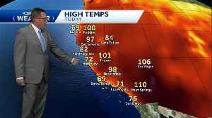 A few more days of hot temps then some relief [Video]