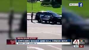 News video: Police exchange gunfire with, kill suspect in KCK