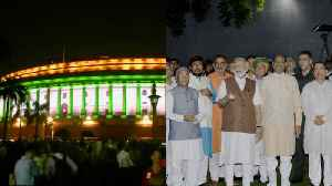 Watch: Parliament gleams with new lighting system ahead of Independence Day [Video]