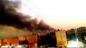 Blast strikes military base in Iraq's Baghdad [Video]