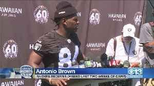 Antonio Brown Returns To Raiders Training Camp [Video]