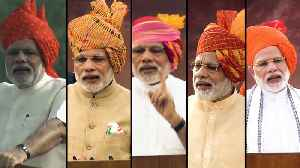 News video: PM Modi's Independence Day speeches: Focus areas from 2014 to 2018