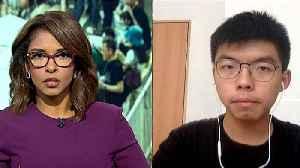 Hong Kong: Joshua Wong calls on gov't to stop police brutality [Video]