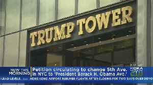 News video: Petition To Change Trump Tower Address To President Barack H. Obama Avenue