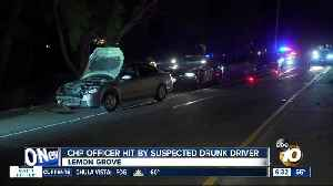 News video: CHP officer struck by suspected DUI driver