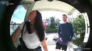 Dad Interrogates Daughter's First Date via Doorbell Camera. [Video]
