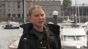 Greta Thunberg sets sail on zero-carbon Atlantic voyage [Video]