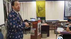 Teacher sings song to help shake first day jitters [Video]