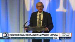 Evers urges diversity in talk to state chamber of commerce [Video]