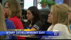 Teachers of Chico Unified School District gathered for staff development day [Video]