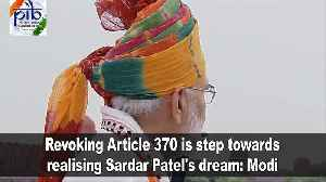 Revoking Article 370 is step towards realising Sardar Patel's dream: Modi [Video]