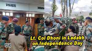 Lt. Col Dhoni in Ladakh on Independence Day [Video]