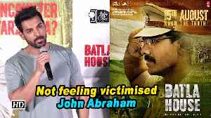 Not feeling victimised: John Abraham [Video]