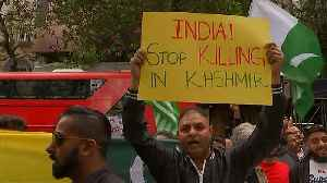 Thousands protest for Kashmir outside London's Indian High Commission [Video]