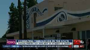 Suicide prevention info on student ID cards [Video]