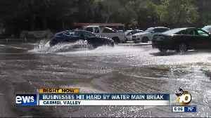 Water main break floods businesses [Video]