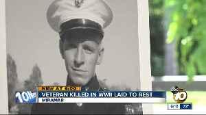 World War II veteran laid to rest in Miramar [Video]
