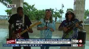 Festival in Punta Gorda commemorates Woodstock anniversary - 7:30am live preview [Video]