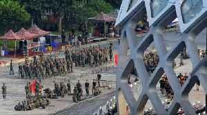Chinese paramilitary are massing near Hong Kong [Video]