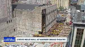 TIME LAPSE: Crews move 625-ton wall at future home of Milwaukee Symphony Orchestra [Video]