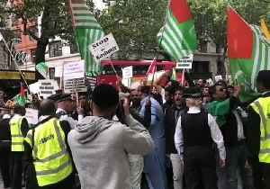 News video: Protesters Converge Outside Indian High Commission in London Over Kashmir Conflict