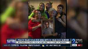 More than a year after her son's murder, a mother pleads for tips [Video]
