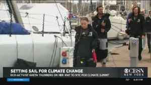 Teen Eco-Activist Traveling To NY From England Aboard Solar-Powered Sailboat [Video]