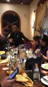 Server Drops Cake During Birthday Celebration at Restaurant [Video]