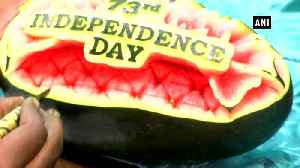 Artist carves faces of freedom fighters on watermelon to mark Independence Day [Video]