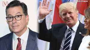 News video: 'The Quick Answer Is No' : Stephen Colbert On The Chances Of Trump Appearing on 'The Late Show' Again