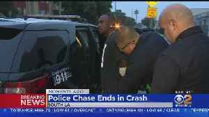 News video: Burglary Suspects In Custody After South LA Chase Ends With Crash