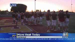 Heat Wave: Liberty HS Team Practices Before Sunrise With Triple-Digit Temps Expected [Video]