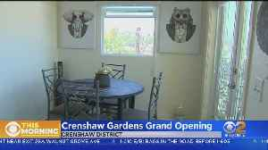 Officials Cut Ribbon On New Affordable Housing On Crenshaw [Video]