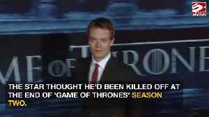Alfie Allen pranked with early GoT death [Video]