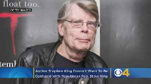 Author Stephen King Doesn't Want To Be Confused With Republican Rep. Steve King [Video]