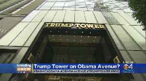 TRENDING: New York City's Trump Tower Could Soon Be On Barack H. Obama Avenue [Video]