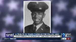A tribute 51 years overdue for fallen Vietnam War hero [Video]