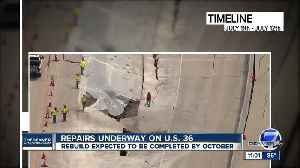 US 36 project moves into rebuild phase after collapse [Video]