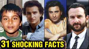Saif Ali Khan 31 SHOCKING And UNKNOWN Facts | First Marriage, DIVORCE | Kareena - Taimur - Sara [Video]