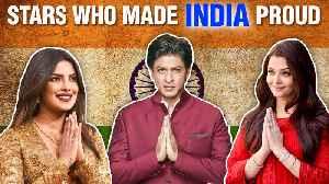 Aishwarya, Priyanka, Shahrukh, Sushmita   Bollywood Stars Who Made India Proud   Independence Day [Video]
