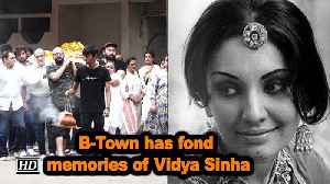 News video: B-Town has fond memories of Vidya Sinha