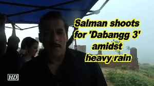 Salman shoots for 'Dabangg 3' amidst heavy rain [Video]