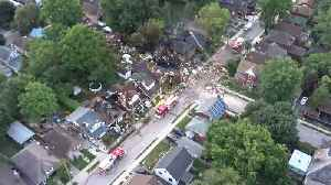 Aerial Video Shows Devastation in Ontario After Vehicle Hits House, Sparks Explosion [Video]