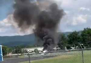 Plane Carrying Dale Earnhardt Jr Crashes at Tennessee's Elizabethton Airport [Video]